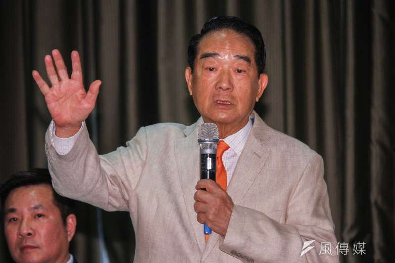 親民黨總統參選人宋楚瑜(見圖)15日幫無黨籍立委參選人黃定和站台。(資料照,蔡親傑攝)