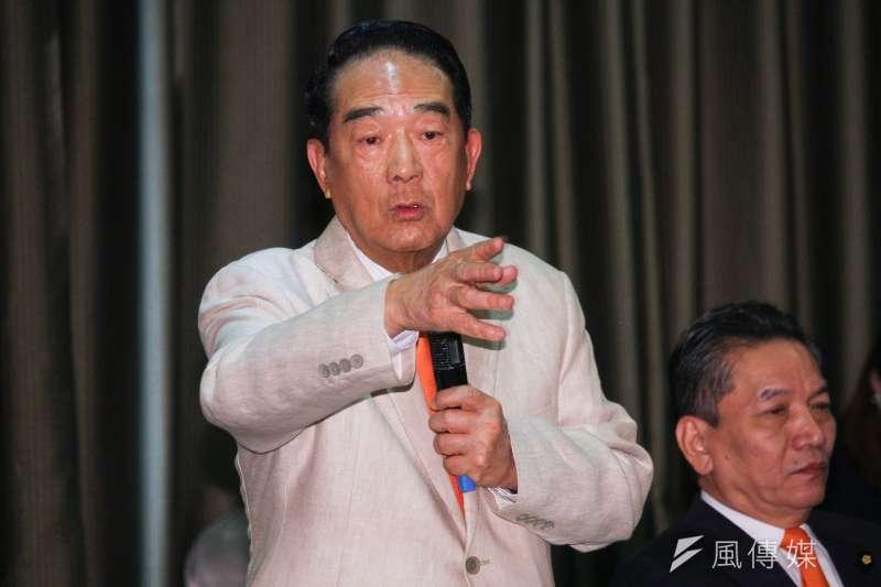 親民黨總統候選人宋楚瑜(見圖)表示,要是沒有親民黨支持,民眾黨主席柯文哲也不會連任台北市長。(資料照,蔡親傑攝)