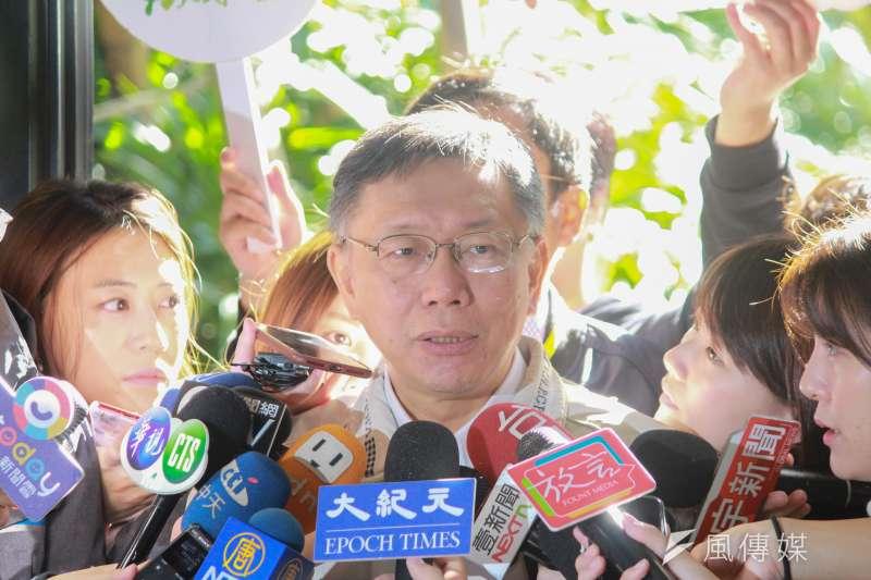 台北市長柯文哲(見圖)14日談及與親民黨關係,表示「每個人他的追求最大利益,合起來就是國家最大利益。」(資料照,方炳超攝)