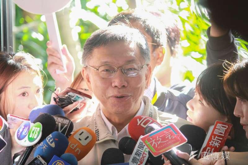 台北市長柯文哲(見圖)11日被問及2024大選國民黨對手是否會是新北市長侯友宜?柯文哲認為有可能。(方炳超攝)