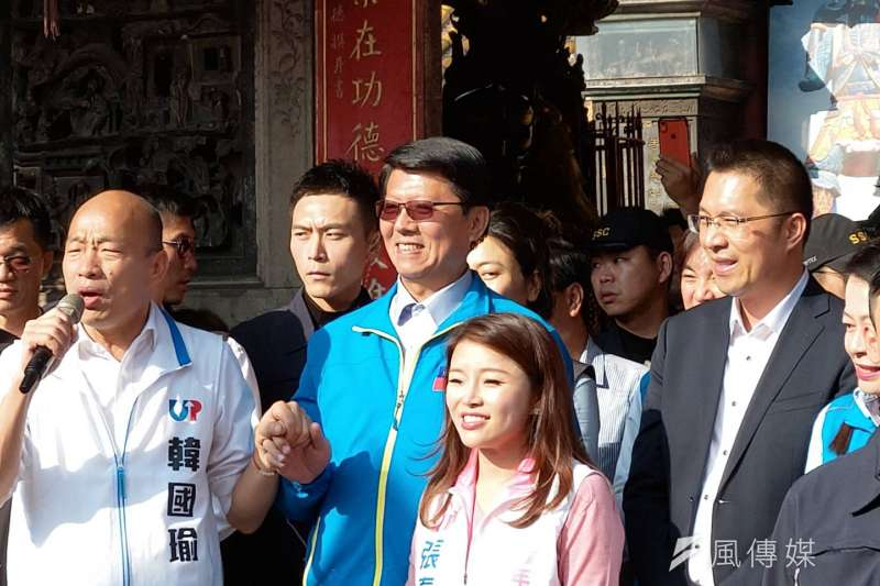 20191212-國民黨總統候選人韓國瑜12日回防雲林,到北港朝天宮參拜與出席造勢活動。(潘維庭攝)