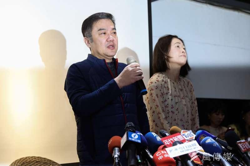 20191213-遠航公司董事長張綱維13日於遠航公司出面說明。(簡必丞攝)