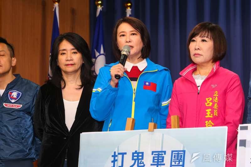 20191213-國民黨台北市議員王鴻薇13日出席「打鬼軍團發佈記者會」。(顏麟宇攝)