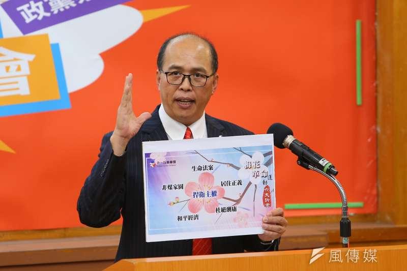20191214-合一行動聯盟代表彭迦智14日出席中華辯論推廣協進會舉辦政黨票辯論會。(顏麟宇攝)