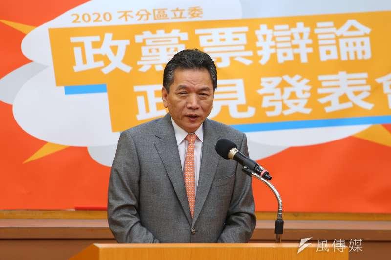 20191214-親民黨代表李鴻鈞14日出席中華辯論推廣協進會舉辦政黨票辯論會。(顏麟宇攝)