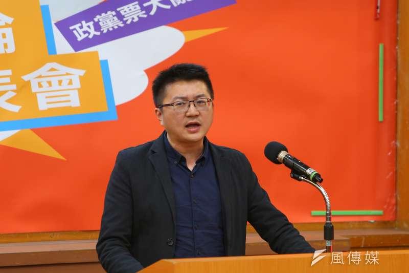 20191214-新黨代表林明正14日出席中華辯論推廣協進會舉辦政黨票辯論會。(顏麟宇攝)
