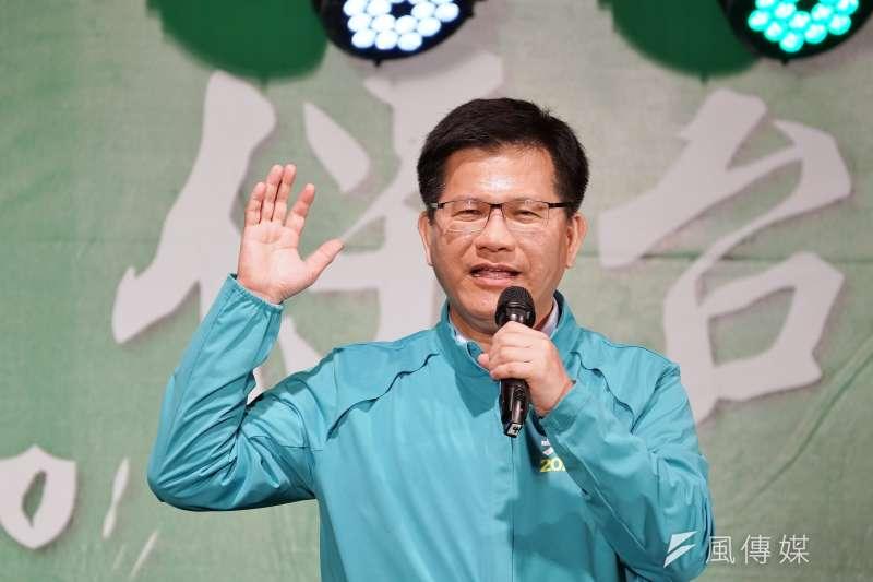 20191215-立委羅致政15日舉行護國保台灣造勢晚會,交通部長林佳龍出席。(盧逸峰攝)