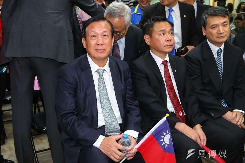 總統大選期間,商總理事長賴正鎰(左)曾公開表態支持韓國瑜。(顏麟宇攝)