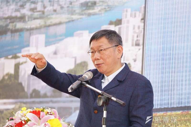 台北市長柯文哲已經站上2024大選的起跑線。(盧逸峰攝)