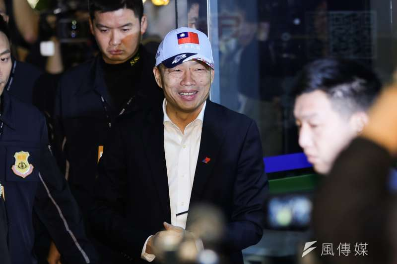 國民黨立委林奕華直言,韓國瑜(見圖)在政見會上的表現,改變以往的土包子形象,有助提升支持度。(資料照,簡必丞攝)