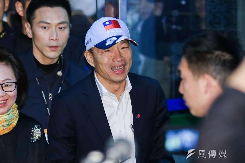 20191218-國民黨總統候選人韓國瑜18日出席第一場總統候選人電視政見發表會。(簡必丞攝)