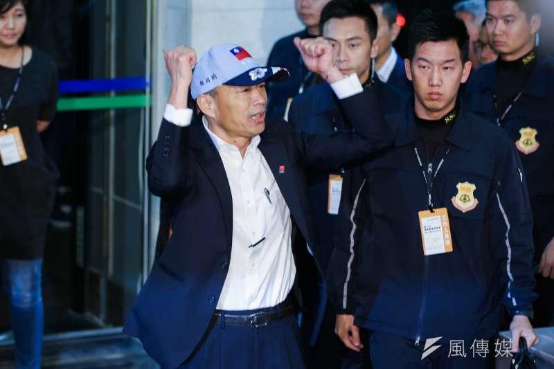 針對韓國瑜在政見會上的表現,唐湘龍認為,韓國瑜已經找回過去對庶民說話的感覺。(資料照,簡必丞攝)