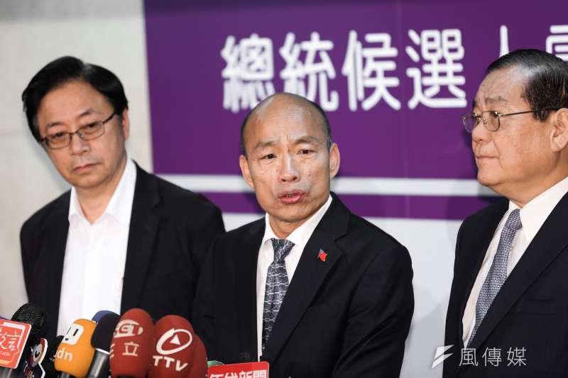 國民黨總統候選人韓國瑜18日出席第首場總統候選人電視政見發表會。(資料照,簡必丞攝)