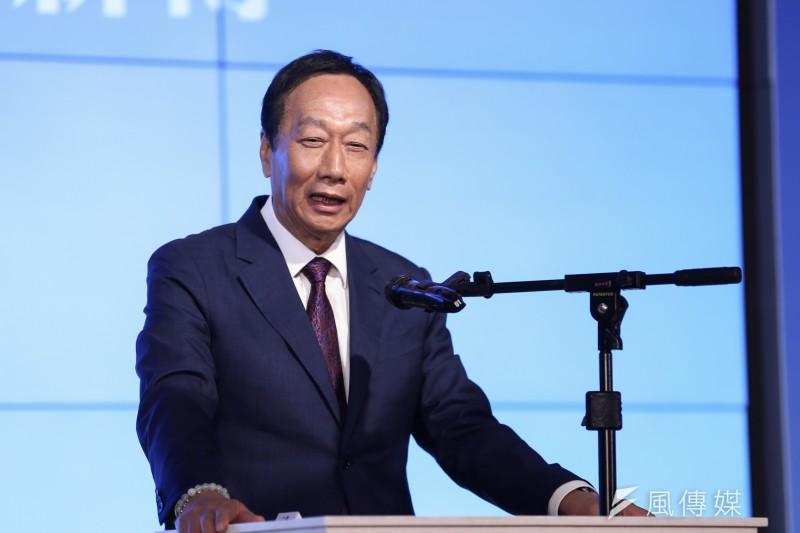 2020選前之夜,鴻海創辦人郭台銘(見圖)表態自己「不會支持蔡英文」。(資料照,簡必丞攝)