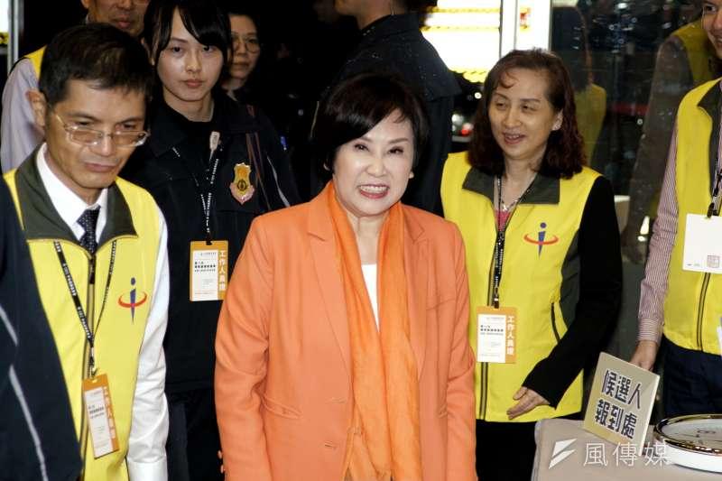 20191220-親民黨副總統參選人余湘12日出席副總統電視政見發表會。(盧逸峰攝)