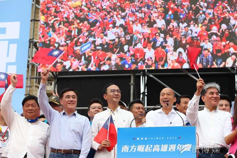 民進黨前立委林濁水分析民調發現,對高雄市長韓國瑜不離不棄的人,其實大多是50至59歲的族群。圖為先前在高雄舉辦的挺韓遊行。(資料照,顏麟宇攝)