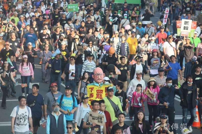 20191221-罷韓遊行21日展開,主辦單位在估計現場人數突破50萬人。(柯承惠攝)