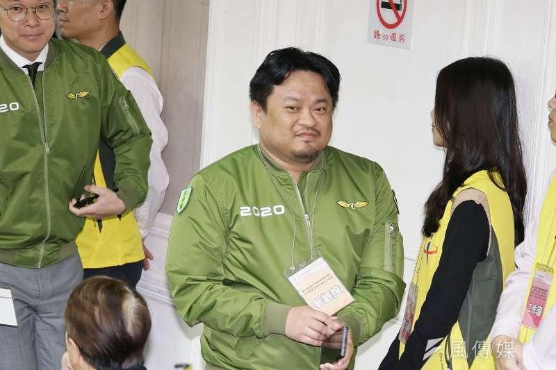 20191218-民進黨立委參選人洪申翰18日出席不分區立委號次抽籤。(盧逸峰攝)