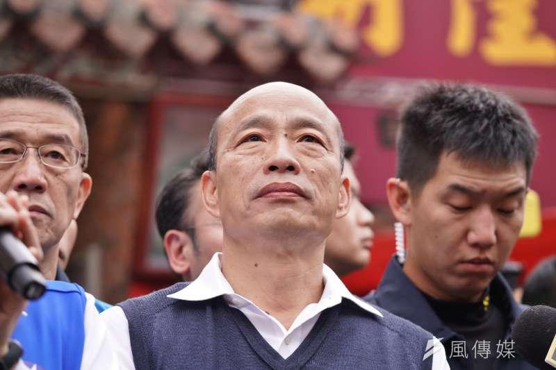 高雄市長韓國瑜(見圖)帶職參選總統失利,如今面臨被罷免的危機。(資料照,盧逸峰攝)