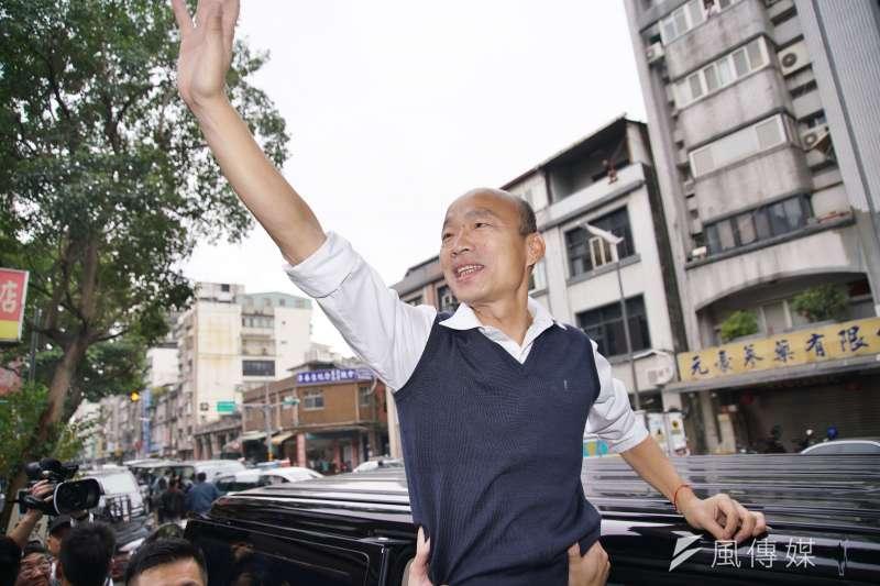 台南市議員謝龍介表示,從昨(21)日挺韓的氣勢來看,高雄市長韓國瑜(見圖)一定可以被送進總統府,所以韓國瑜沒有被罷免的問題。(盧逸峰攝)