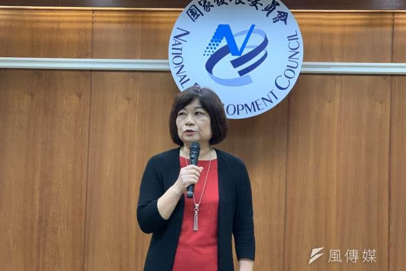 國家發展委員會24日舉行年終記者會,主委陳美伶展望明年景氣。(尹俞歡攝)