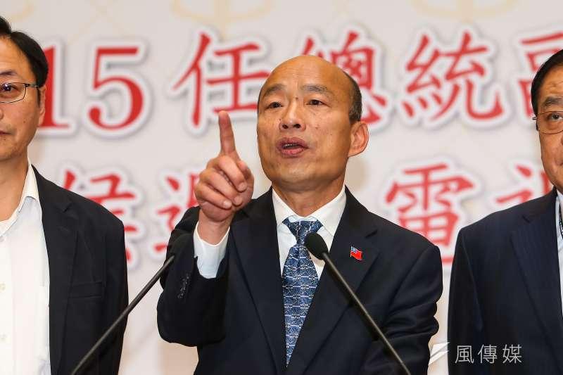 唐湘龍直言,現在的韓國瑜已經找回競選高雄市長時的狀態,再次成為民進黨的心病。(資料照,顏麟宇攝)