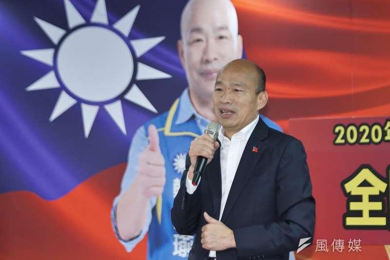 國民黨總統候選人韓國瑜(見圖)日前接受脫口秀網路節目《博恩夜夜秀》專訪,內容中主持人的調侃、韓國瑜對各議題的回應等,引發熱烈討論。(資料照,盧逸峰攝)