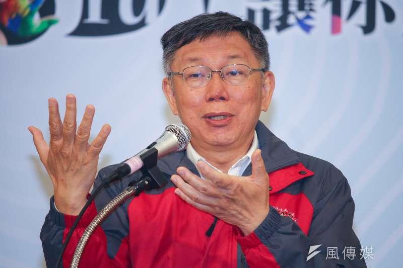 20191225-台北市長柯文哲25日出席就職五周年記者會。(蔡親傑攝)