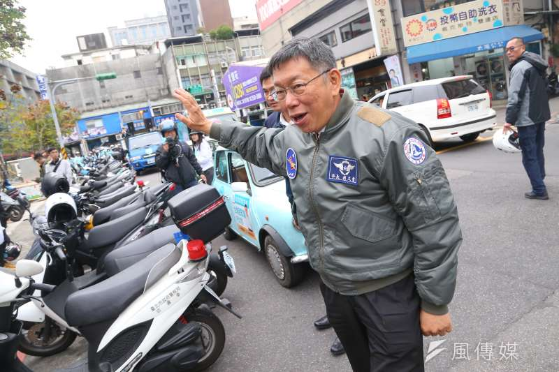 20191227-台灣民眾黨主席柯文哲27日出席「南北眾貫線」啟程記者會。(顏麟宇攝)