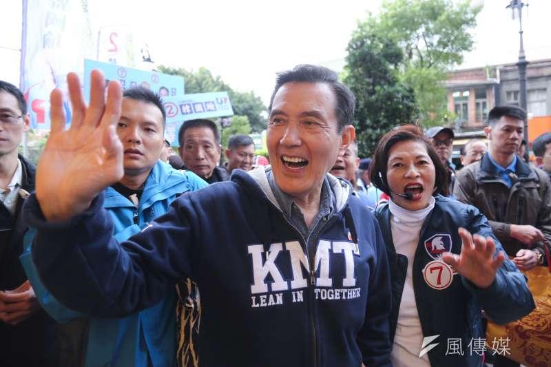 前總統馬英九成為總統大選不可或缺的「場外配角」。(陳品佑攝)
