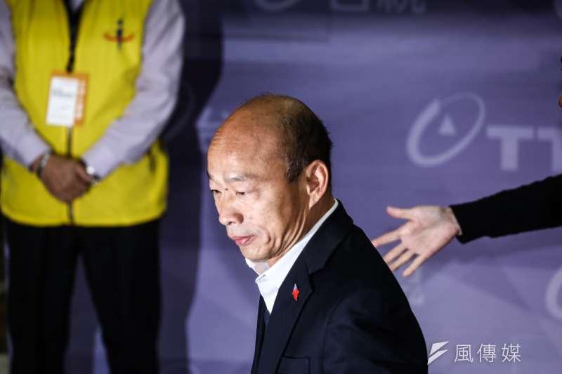 罷免高雄市長韓國瑜(見圖)第一階段達標,罷韓領銜人陳冠榮今天至中選會領取第二階段連署書格式,目標30天內30萬份連署書。(資料照,陳品佑攝)