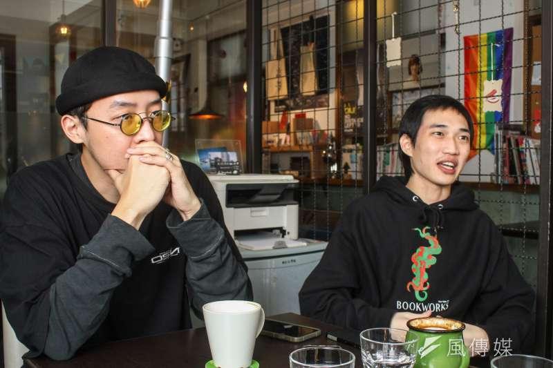 20191227-吉豐重工負責人陳灝(左),技術總監胡兆沅(右)專訪。(蔡親傑攝)