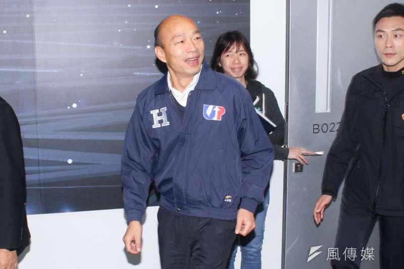20191227-國民黨正副候選人韓國瑜(圖中)、張善政參訪HTC,並舉行青年國是論壇。(蔡親傑攝)