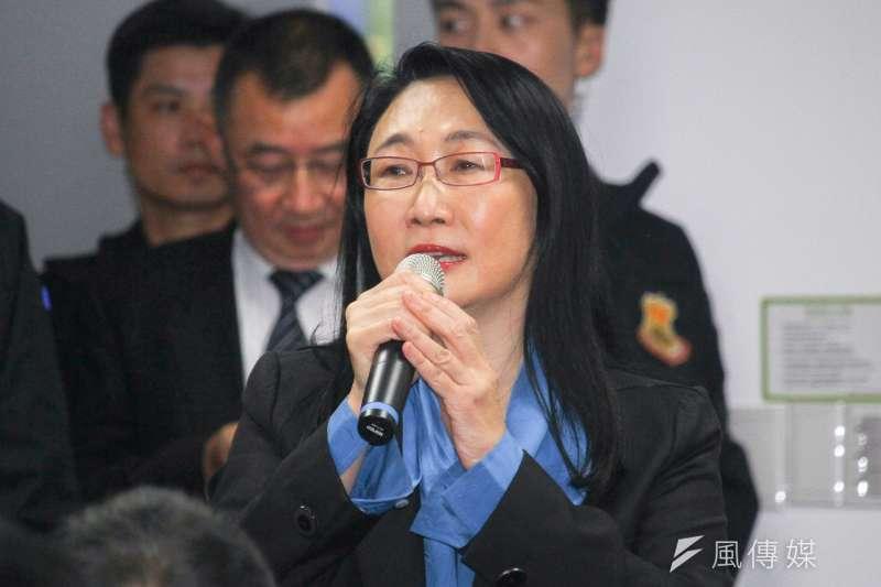 20191227-國民黨正副候選人韓國瑜、張善政參訪HTC,圖為HTC董事長王雪紅。(蔡親傑攝)