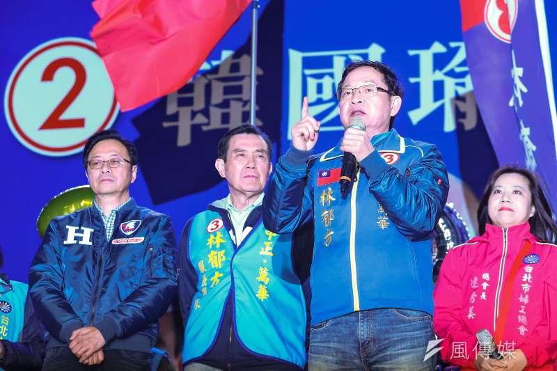 20191228-國民黨立委候選人林郁方28日舉行造勢大會。(顏麟宇攝)