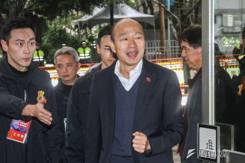 20191229-國民黨總統參選人韓國瑜出席公視總統候選人電視辯論會。(蔡親傑攝)