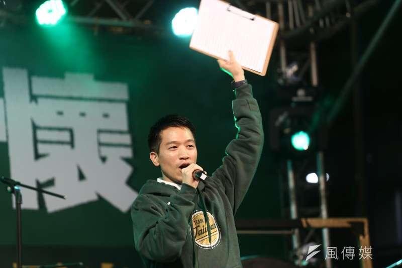 20191229-民進黨「護國保台,下架吳斯懷之夜」活動,立委參選人何志偉。(陳品佑攝)