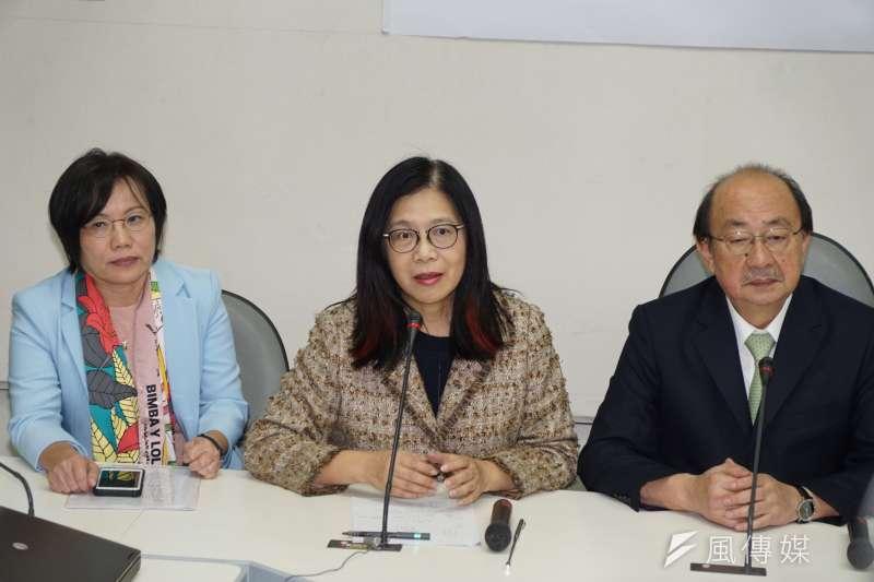 20191231-民進黨立院黨團31日召開反滲透法記者會,立委管碧玲發言。(盧逸峰攝)