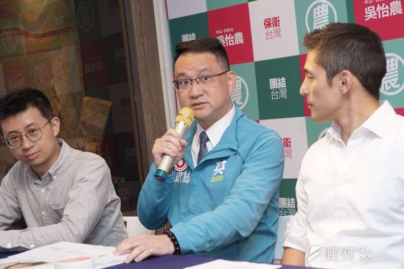 20200102-立委參選人阮昭雄2日出席「我主張!修憲落實18歲公民權」記者會。(盧逸峰攝)