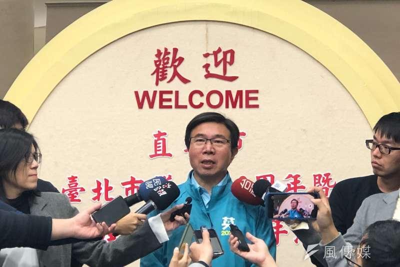 20200102-針對台北市政府處理「卡神」楊蕙如案,台北市議會民進黨團總召張茂楠(見圖)批有選舉炒作之嫌。(方炳超攝)
