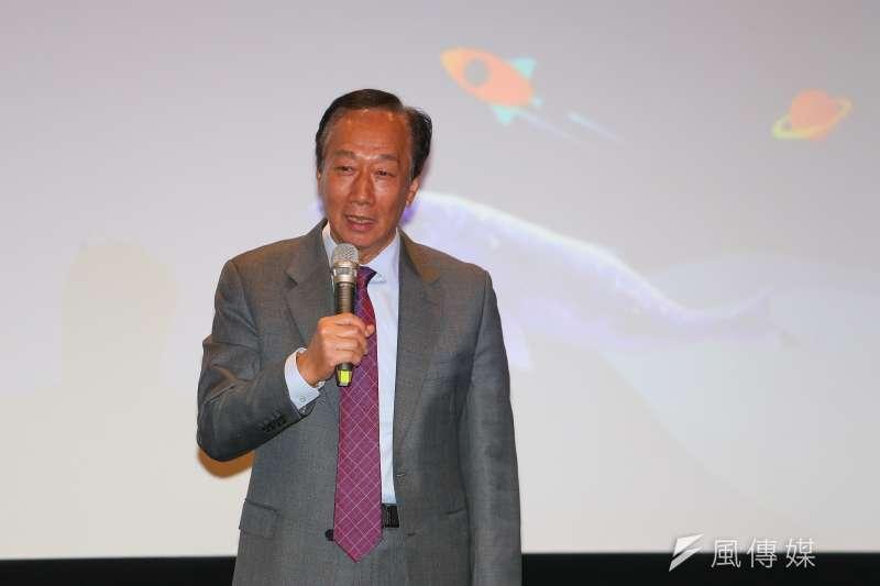 鴻海創辦人郭台銘7月自集中市場買進430張鴻海股票,這是郭台銘連續2個月未增加持股後,再度加碼買進鴻海股票。(顏麟宇攝)