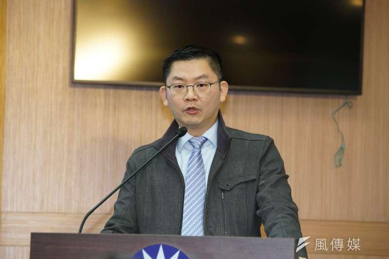 20200102-國民黨2日召開「綠色恐怖 人人自危」記者會,發言人黃心華出席。(盧逸峰攝)