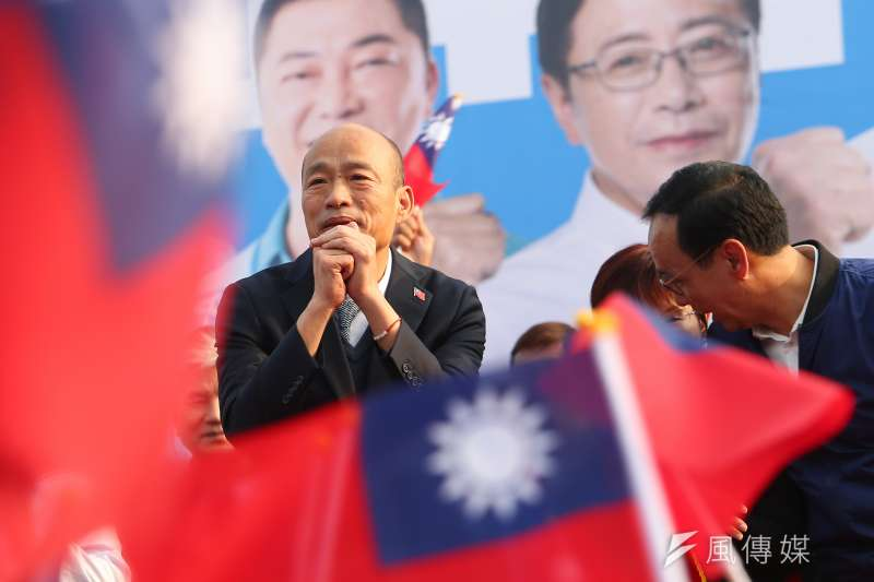 國民黨總統候選人韓國瑜。(顏麟宇攝)