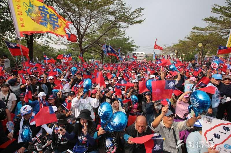 20200104-國民黨台南市立委候選人洪秀柱4日舉行台南選前造勢活動。(顏麟宇攝)