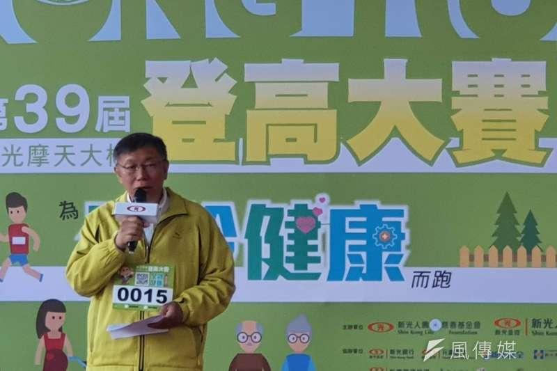 國軍黑鷹直升機墜毀,造成8人罹難悲劇,選舉活動喊停,台北市長柯文哲(見圖)對此曾說「這是典型的行政優勢」,引發批評。 (資料照,方炳超攝)