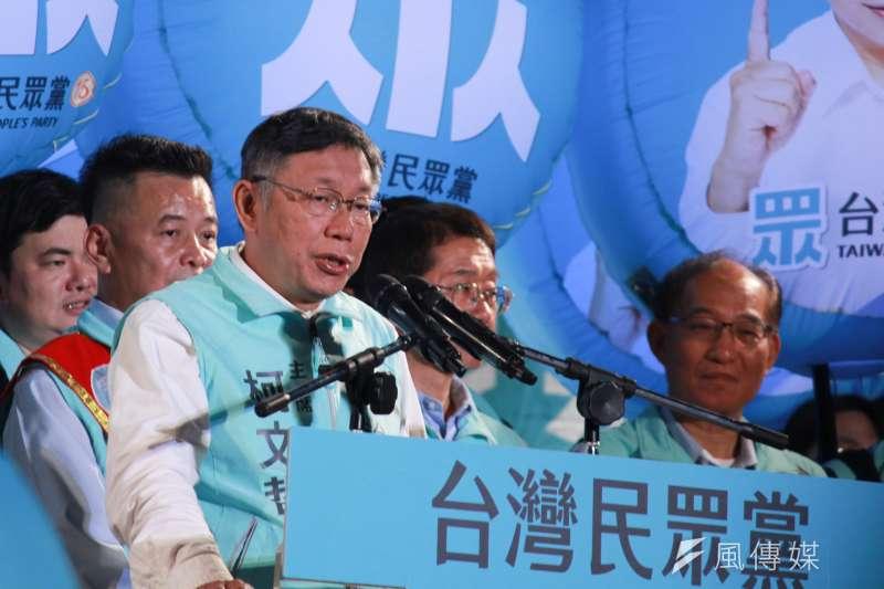 2020大選進入倒數3天,國民黨副總統候選人張善政預測,台灣民眾黨主席柯文哲最後將表態挺國民黨總統候選人韓國瑜。(方炳超攝)
