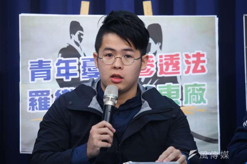 國民黨青年部主任陳冠安(見圖)認為民進黨支持度雖有上升,但分析下來其實支持者都只是在時力、基進等泛綠政黨間流動而已。(資料照,蔡親傑攝)