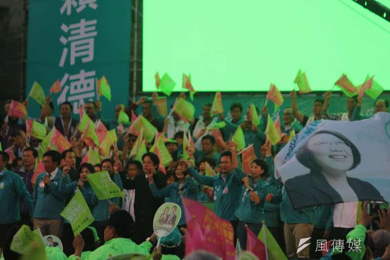 20200105-民進黨5日在台南舉辦「台南拚第一、台灣全勝利」造勢大會。(黃信維攝)