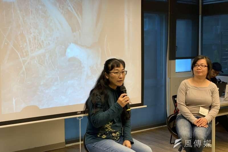 20200105-石虎保育協會理事長陳美汀(左)與協會秘書長吳佳其(右)。(尹俞歡攝)