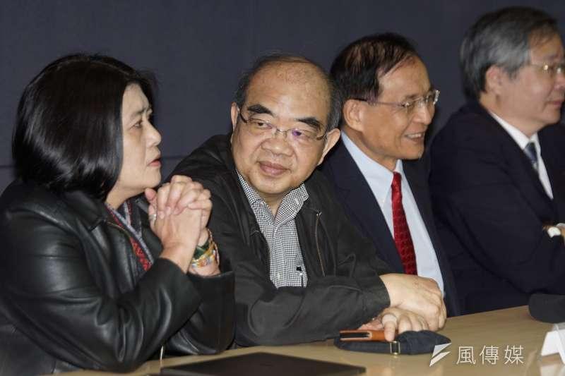20200105-前教育部長吳茂昆5日出席海內外學術界支持蔡英文賴清德記者會。(盧逸峰攝)